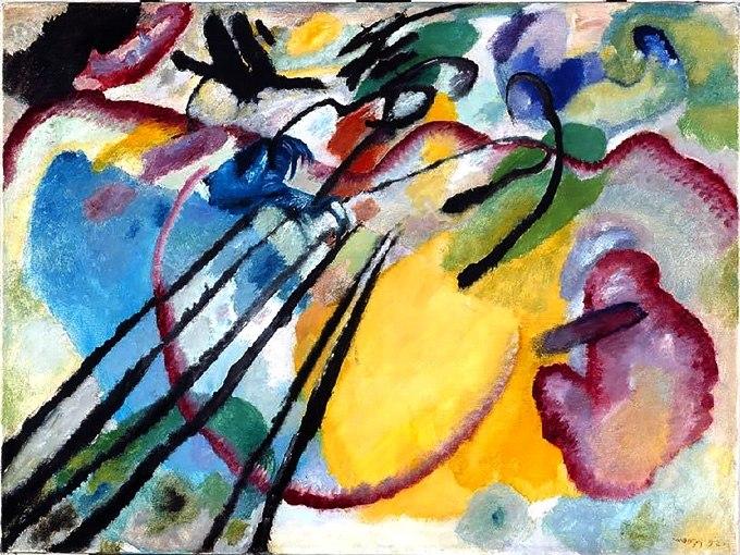 №0384 Импровизация 26 от Василий Кандински, Картина - репродукция с ръчно добавен релефен финиш
