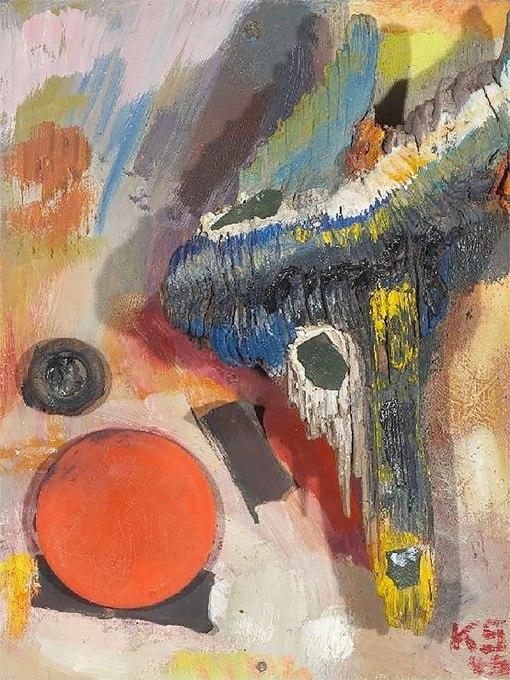"""№0420 """"Полет"""" от Курт Швитерс. Картина - репродукция с ръчно добавен релефен финиш"""