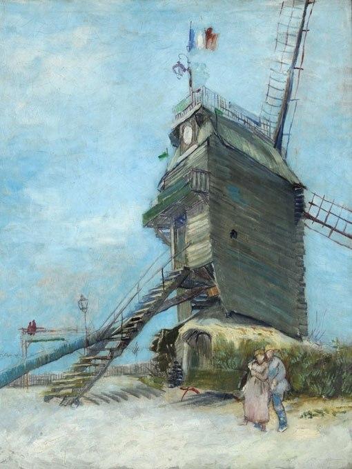 """№0937, """"Le Moulin de la Galette"""" от Ван Гог. Картина с ефектен ръчен релефен финиш. Индивидуална изработка по поръчка."""