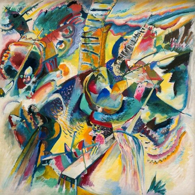 """№1293, """"Improvisation Klamm"""" от Кандински. Жикле картина с ефектен ръчен релеф. Индивидуална изработка по поръчка."""