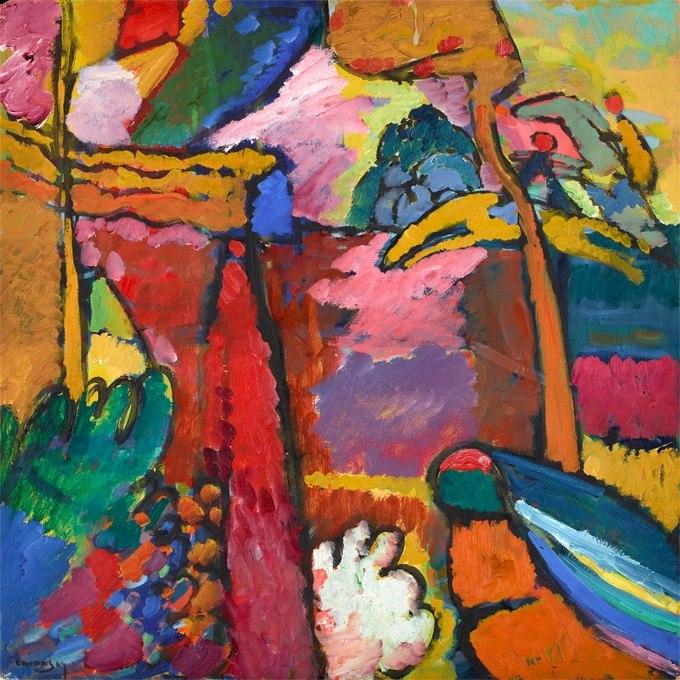 """№1316, """"Study for Improvisation V"""" от Кандински. Жикле картина с ефектен ръчен релеф. Индивидуална изработка по поръчка."""