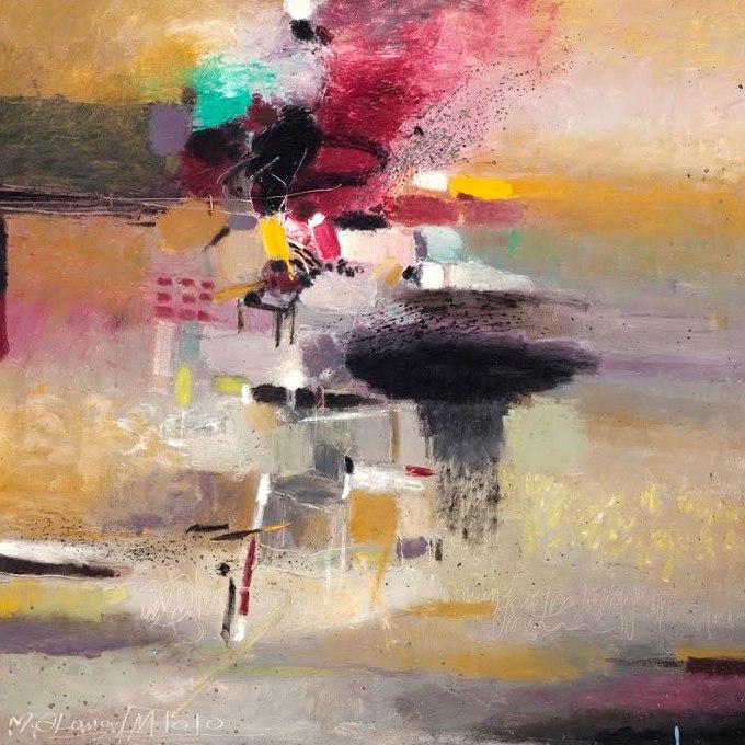 """№1343, """"Courtiers"""" от Giancarlo Bargoni. Жикле картина с ефектен ръчен релеф. Индивидуална изработка по поръчка."""