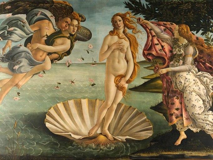 """№1359, """"Раждането на Венера"""" от Сандро Ботичели. Жикле картина с ефектен ръчен релеф. Индивидуална изработка по поръчка."""