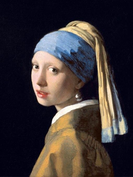 """№1366, """"Момичето с перлената обица"""" от Йоханес Вермер. Жикле картина с ефектен ръчен релеф. Индивидуална изработка по поръчка."""