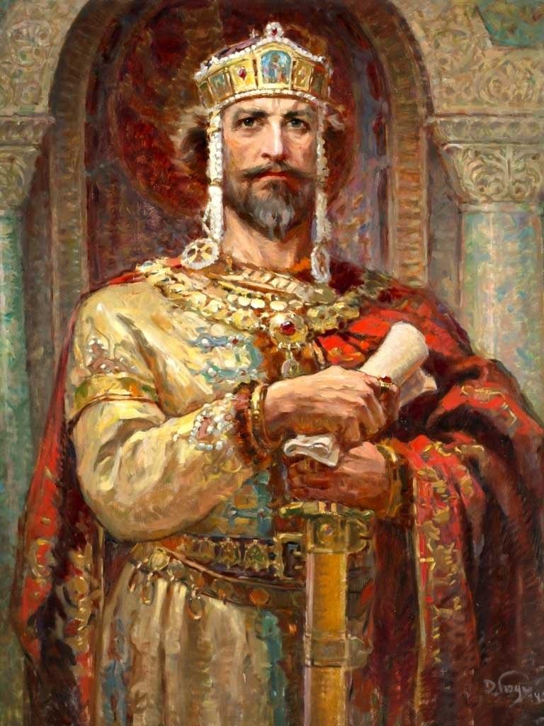 №1404, Цар Симеон Велики от Димитър Гюдженов. Жикле картина с ефектен ръчен релеф. Индивидуална изработка по поръчка.