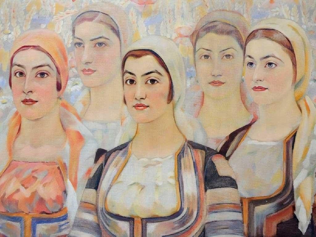 """№1407, """"Моми"""" от Владимир Димитров - Майстора. Жикле картина с ефектен ръчен релеф. Индивидуална изработка по поръчка."""