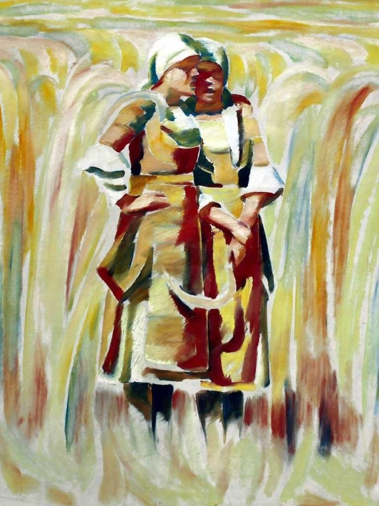 """№1408, """"Жътварки"""" от Владимир Димитров - Майстора. Жикле картина с ефектен ръчен релеф. Индивидуална изработка по поръчка."""