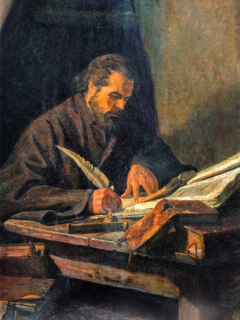 №1424, Портрет на Паисий Хилендарски. Жикле картина с ефектен ръчен релеф. Индивидуална изработка по поръчка.
