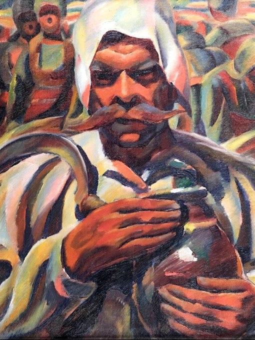 """№1370, """"Жътвар"""" от Владимир Димитров - Майстора. Жикле картина с ефектен ръчен релеф. Индивидуална изработка по поръчка."""