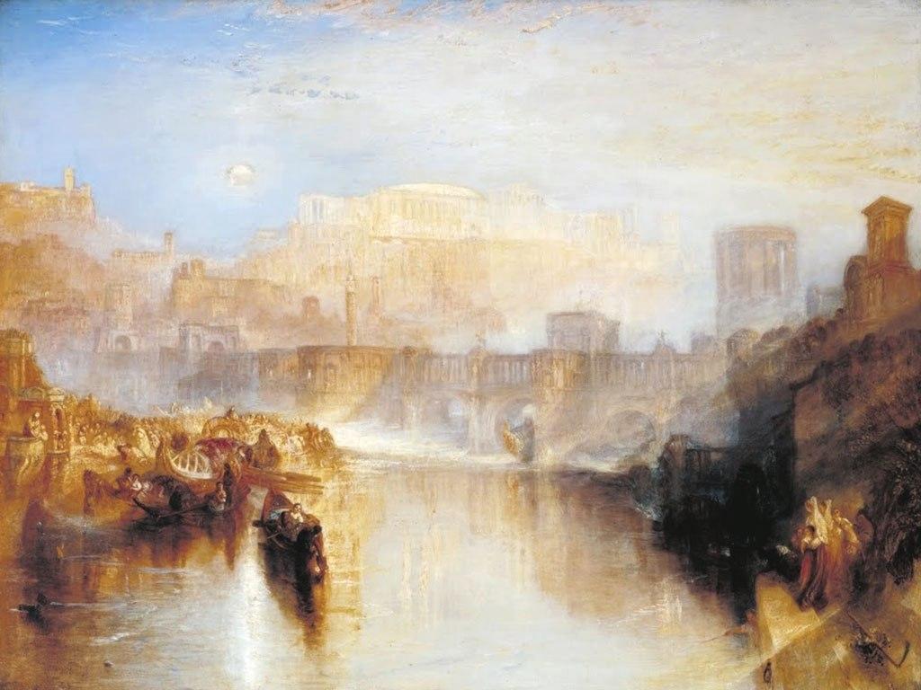 """№1458, """"Ancient Rome"""" от Уилям Търнър. Жикле картина с ефектен ръчен релеф. Индивидуална изработка по поръчка."""