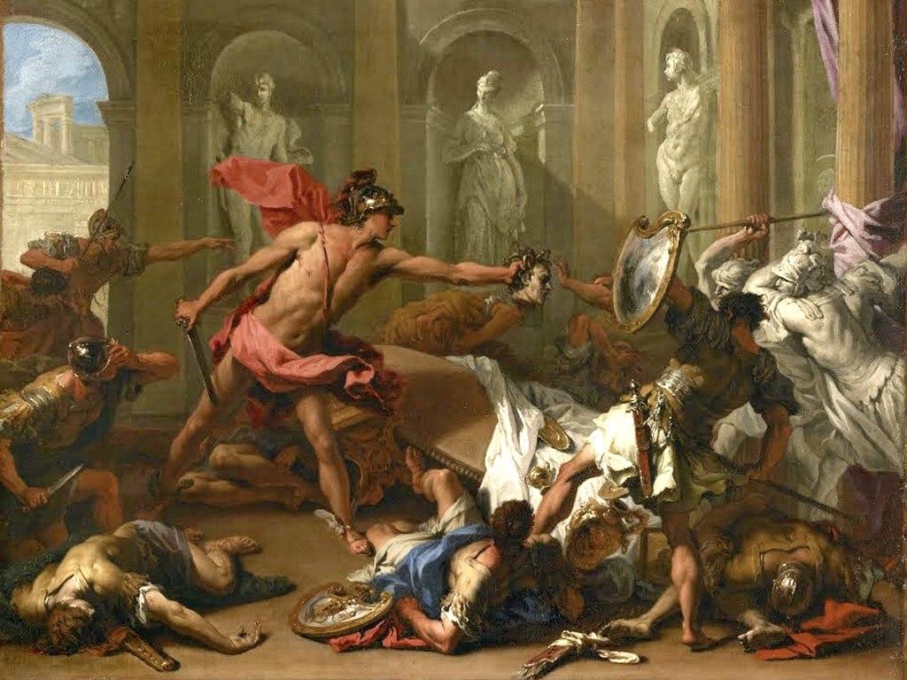 №1481, Oath of the Horatii от Jacques-Louis David. Жикле картина с ефектен ръчен релеф. Индивидуална изработка по поръчка.