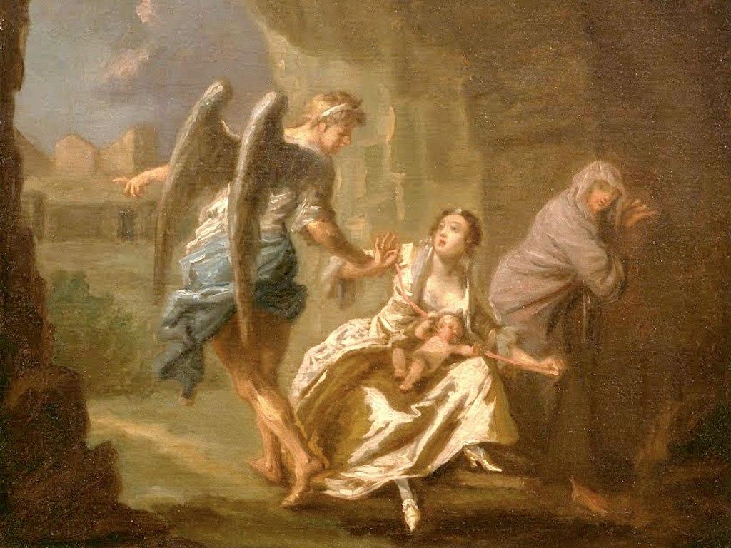 """№1490, """"The Angel of Mercy"""" от Joseph Highmore. Жикле картина с ефектен ръчен релеф. Индивидуална изработка по поръчка."""