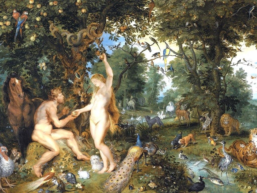 """№1497, """"The Garden of Eden"""" от Peter Paul Rubens. Жикле картина с ефектен ръчен релеф. Индивидуална изработка по поръчка."""