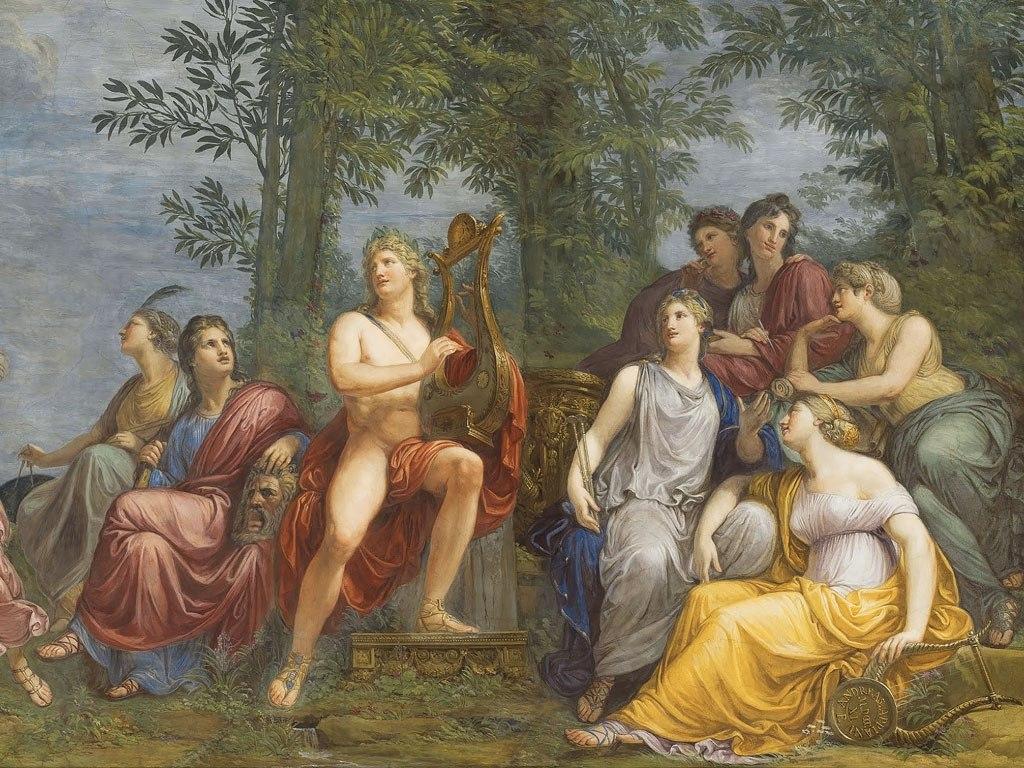 """№1504, """"The Parnassus"""" от Andrea Appiani. Жикле картина с ефектен ръчен релеф. Индивидуална изработка по поръчка."""