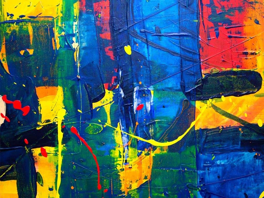 №1581, Синя фантазия 2. Жикле картина с ефектен ръчен релеф. Индивидуална изработка по поръчка.