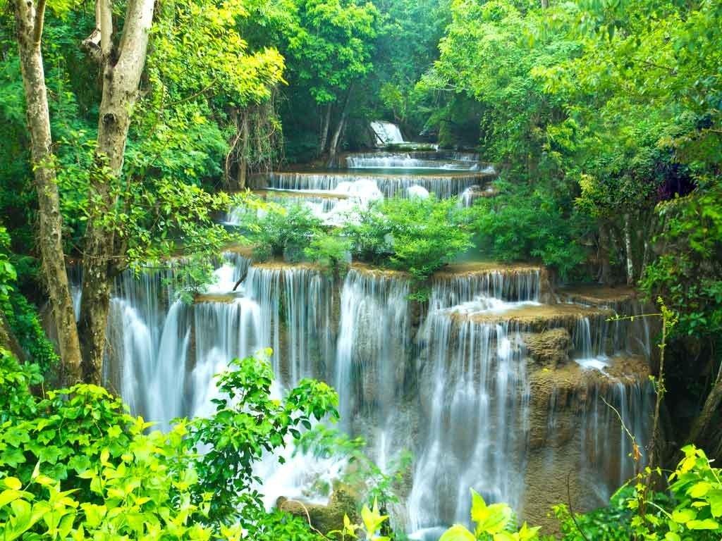 №1900, Летен водопад. Фото-картина.
