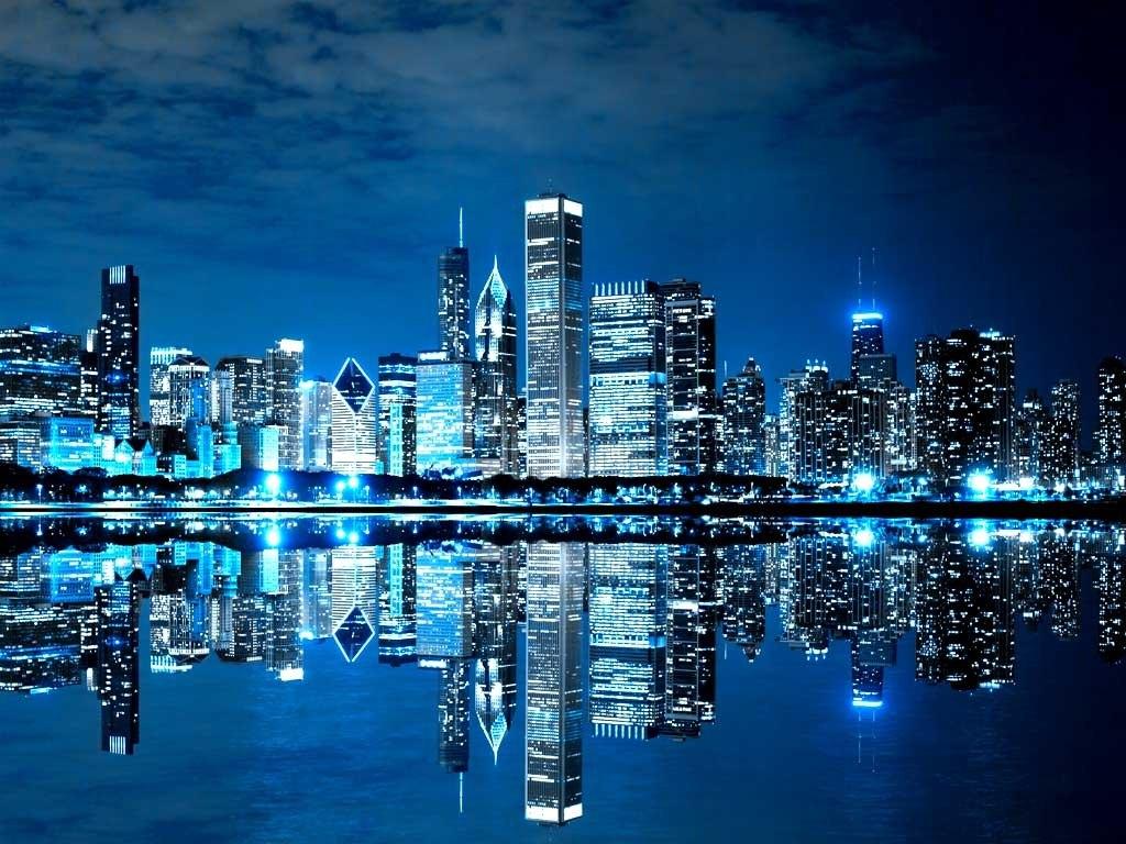 №1906, Градът на небостъргачите. Фото-картина.