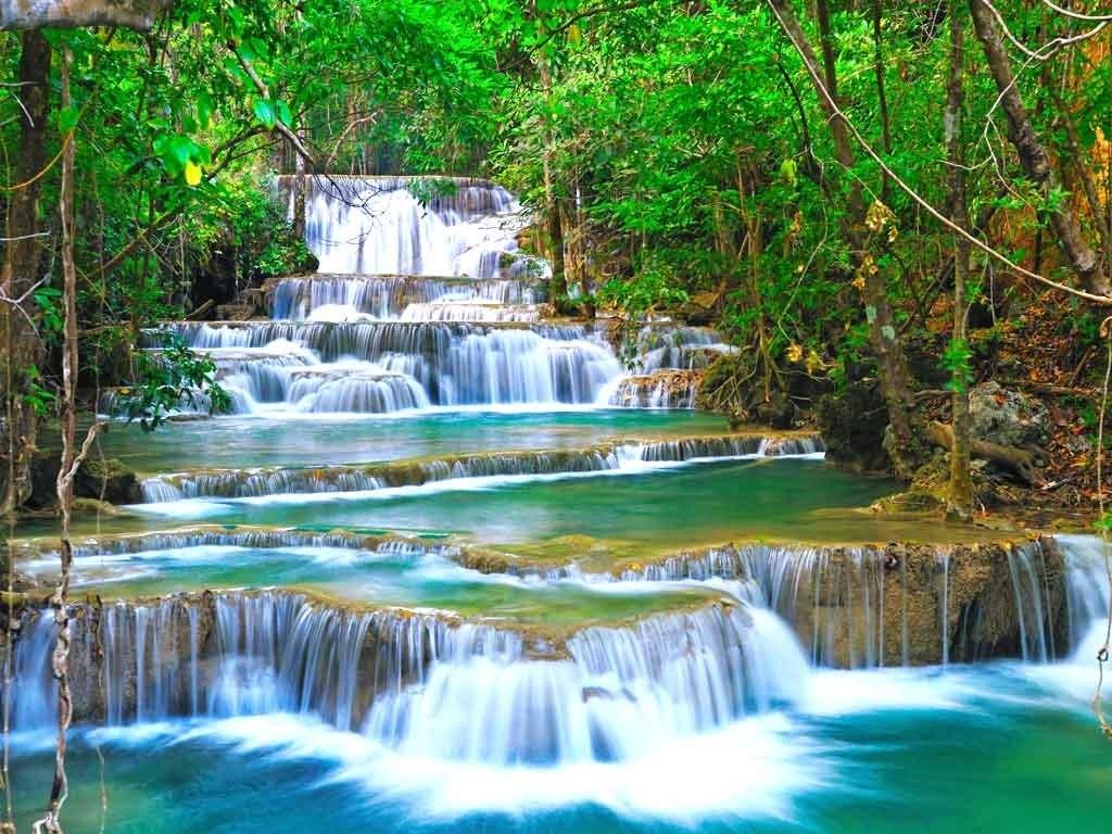 №1955, Големият водопад. Фото-картина.