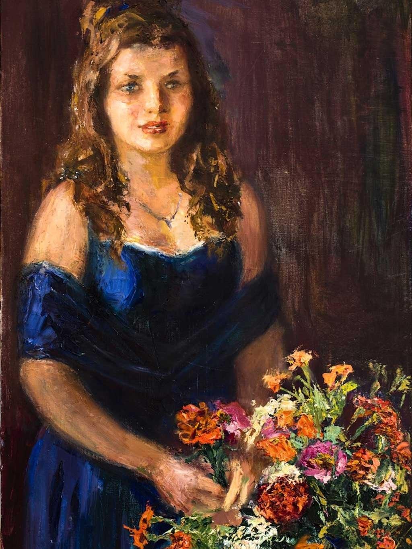 №2251, Принцеса Анабел. Жикле картина с ефектен ръчен релеф. Индивидуална изработка по поръчка.