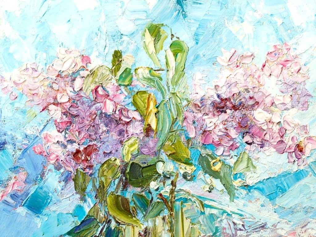 №2313, Сбор от цветя III. Жикле картина с ефектен ръчен релеф. Индивидуална изработка по поръчка.