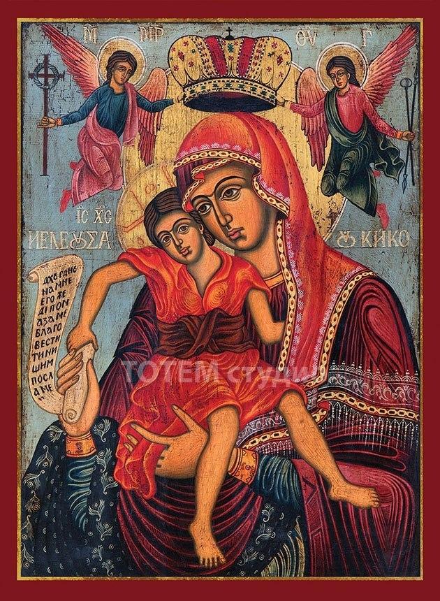 Света Богородица Хелиуса от остров Кико - 13/18 см.