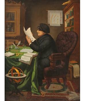 №2519, Портрет на Петър Берон. Жикле картина с ефектен ръчен релеф. Индивидуална изработка по поръчка.