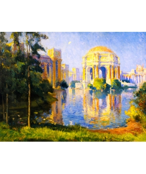 №2545, Panama California Exposition Colin Campbell Cooper. Жикле картина с ефектен ръчен релеф.