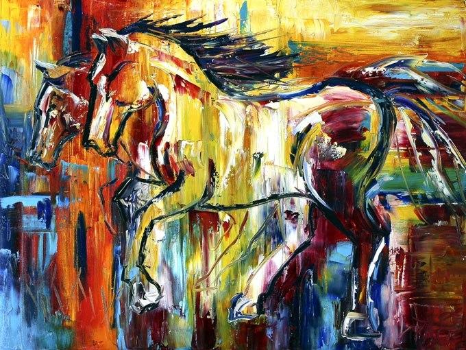 Многоцветни коне