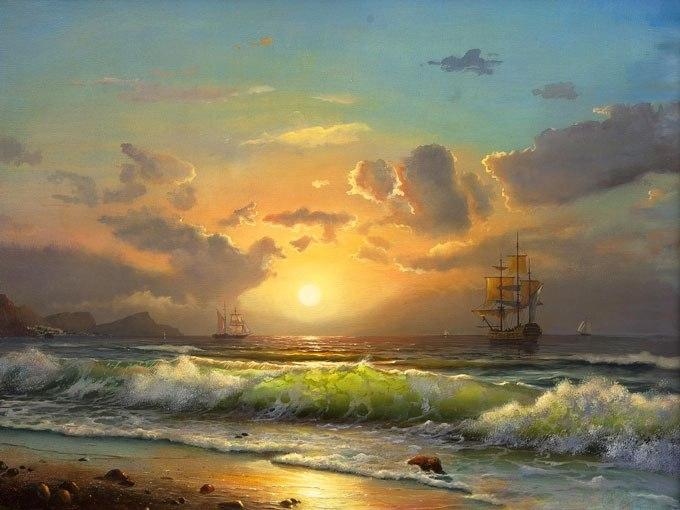 Морска среща по изгрев