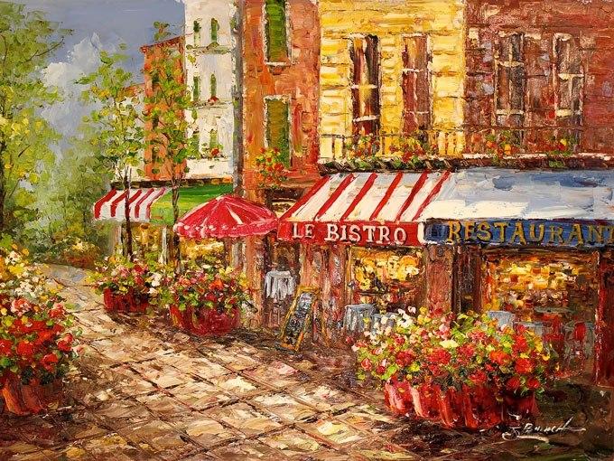Парижко бистро. Картина - репродукция