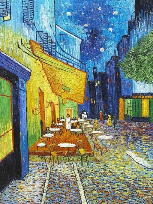 Нощно кафене от Ван Гог. Картина - репродукция