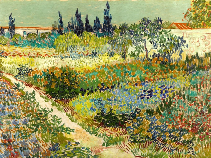 Градина в Арл от Ван Гог.