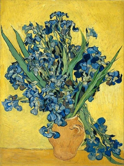 Ваза с ириси от Ван Гог
