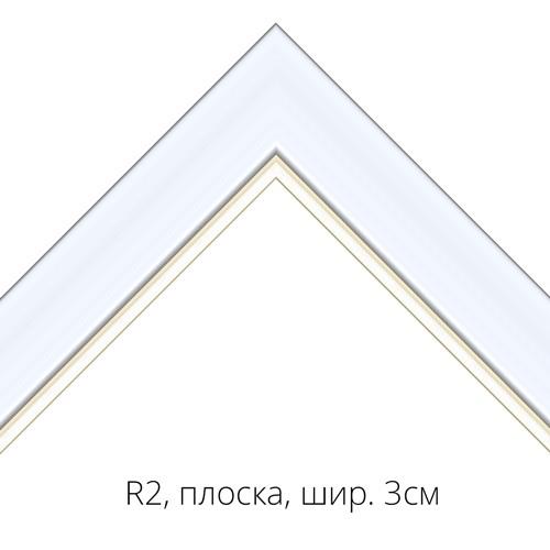 R2, рамка, плоска, ширина 3см